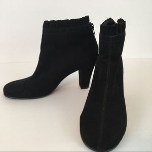 Aerosoles Black Suede Ankle Booties 8.5M